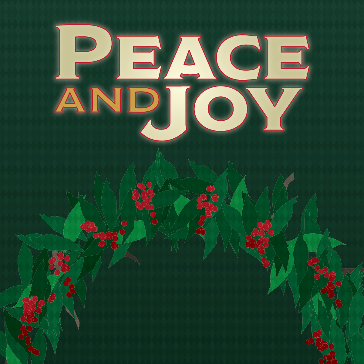 Peace and Joy concert poster